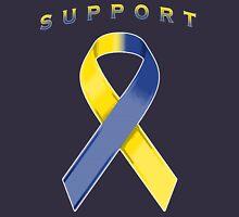 Yellow & Blue Awareness Ribbon of Support Unisex T-Shirt