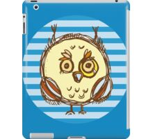 Funny owl blue and brown iPad Case/Skin
