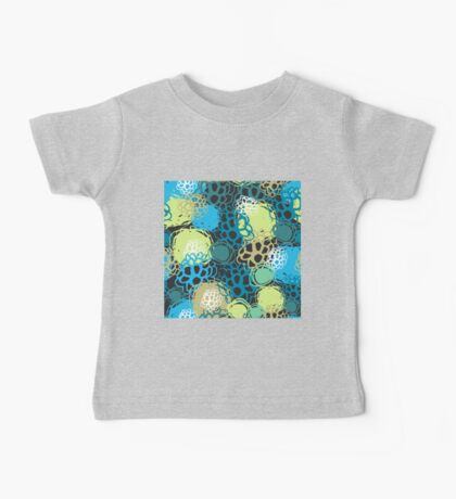 Seamless background black blue brown green  Baby Tee