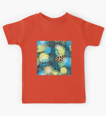 Seamless background black blue brown green  Kids Tee