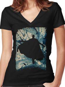 Superman Women's Fitted V-Neck T-Shirt