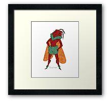 Red Moth Framed Print