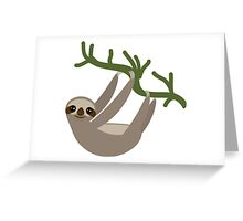 Curious sloth Greeting Card