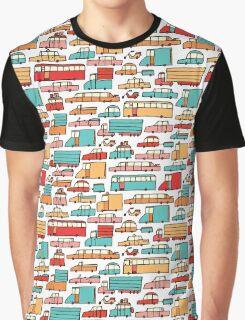 Cartoon seamless car pattern Graphic T-Shirt