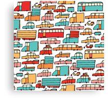 Cartoon seamless car pattern Canvas Print