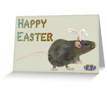 Easter Rat Card Greeting Card