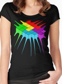 Tetris Melt 2 Women's Fitted Scoop T-Shirt