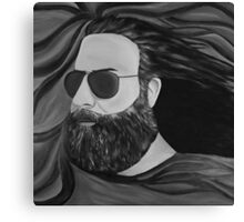 Jerry Garcia in Black and White Canvas Print