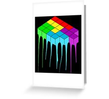 Tetris Melt 3 Greeting Card