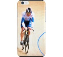 White and blue rider iPhone Case/Skin