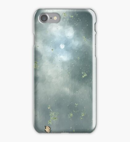 Reflection of the sky in water iPhone Case/Skin