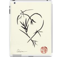 Kyuzo - Sumie ink brush black heart painting iPad Case/Skin