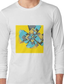 Cool abstract digital explosion Long Sleeve T-Shirt