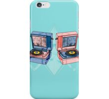Record Player Illustration iPhone Case/Skin