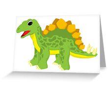 Friendly Stegosaurus Greeting Card