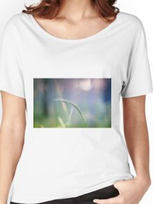 Ear with nature abstract background Women's Relaxed Fit T-Shirt