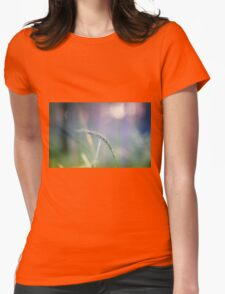 Ear with nature abstract background Womens Fitted T-Shirt
