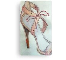 The Pink Shoe Canvas Print