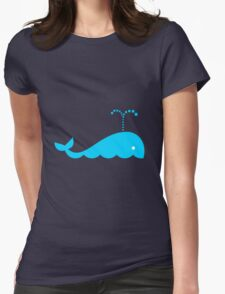 Little Blue Whale Womens Fitted T-Shirt
