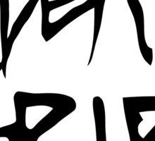 Death Grips (Black Logo) Sticker