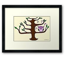 Owl Singing in a Tree Framed Print