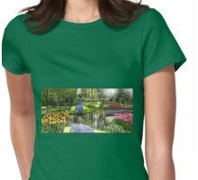 Memories of Keukenhof - Floral Collage (Landscape Format) Womens Fitted T-Shirt