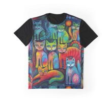 Colourful Kittens Graphic T-Shirt