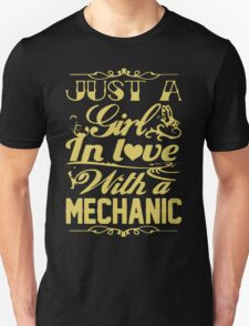Just a Girl in Love with a Mechanic T-Shirt