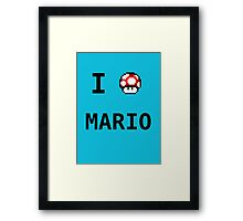 I Love Mario  Framed Print
