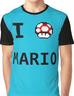 I Love Mario  Graphic T-Shirt