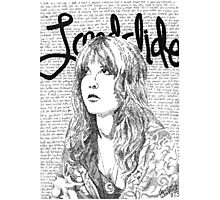 Stevie Nicks Landslide Lyrics Photographic Print