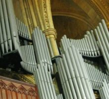 Organ Pipes, Truro Cathedral Sticker