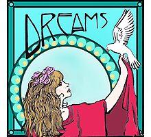 Stevie Nicks- Art Nouveau Style- Colour Photographic Print