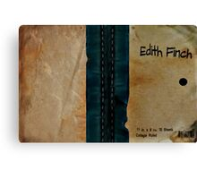 Edith Finch's Journal (What Remains of Edith Finch) Canvas Print