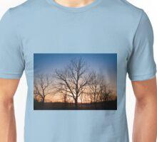 Winter Trees at Dusk Unisex T-Shirt
