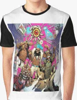 Flatbush Zombies Comic Space Adventure Graphic T-Shirt