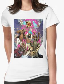 Flatbush Zombies Comic Space Adventure Womens Fitted T-Shirt