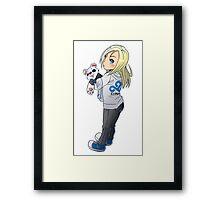 Cute Chibi Character Framed Print