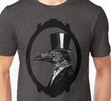 Raven in top hat without background Unisex T-Shirt