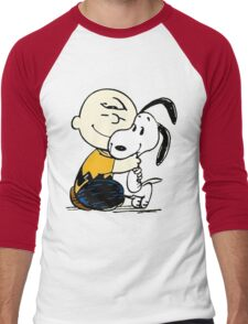 Snoopy and Charlie Soulmate Men's Baseball ¾ T-Shirt