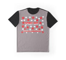 School Spirit - School Colors - Red & White Graphic T-Shirt