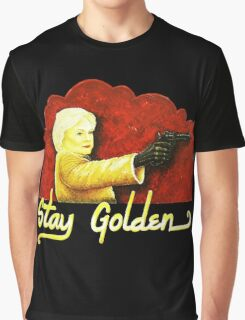 Stay Golden Girl Character Graphic T-Shirt