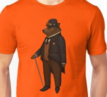 Bear in bowler hat without background, no frame Unisex T-Shirt