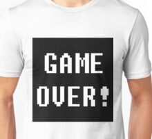 Game Over! Undertale Text Unisex T-Shirt