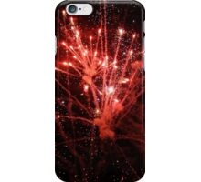 Red Fireworks.  iPhone Case/Skin