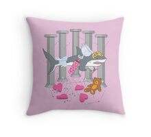 The Cupid Shark Throw Pillow