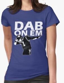 Dab On Em Carolina Cam Newton Womens Fitted T-Shirt