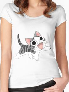 Chi cute cat Women's Fitted Scoop T-Shirt