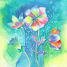 Floral III by Carolina  Coto