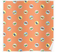 Colorful Marble Pattern Poster